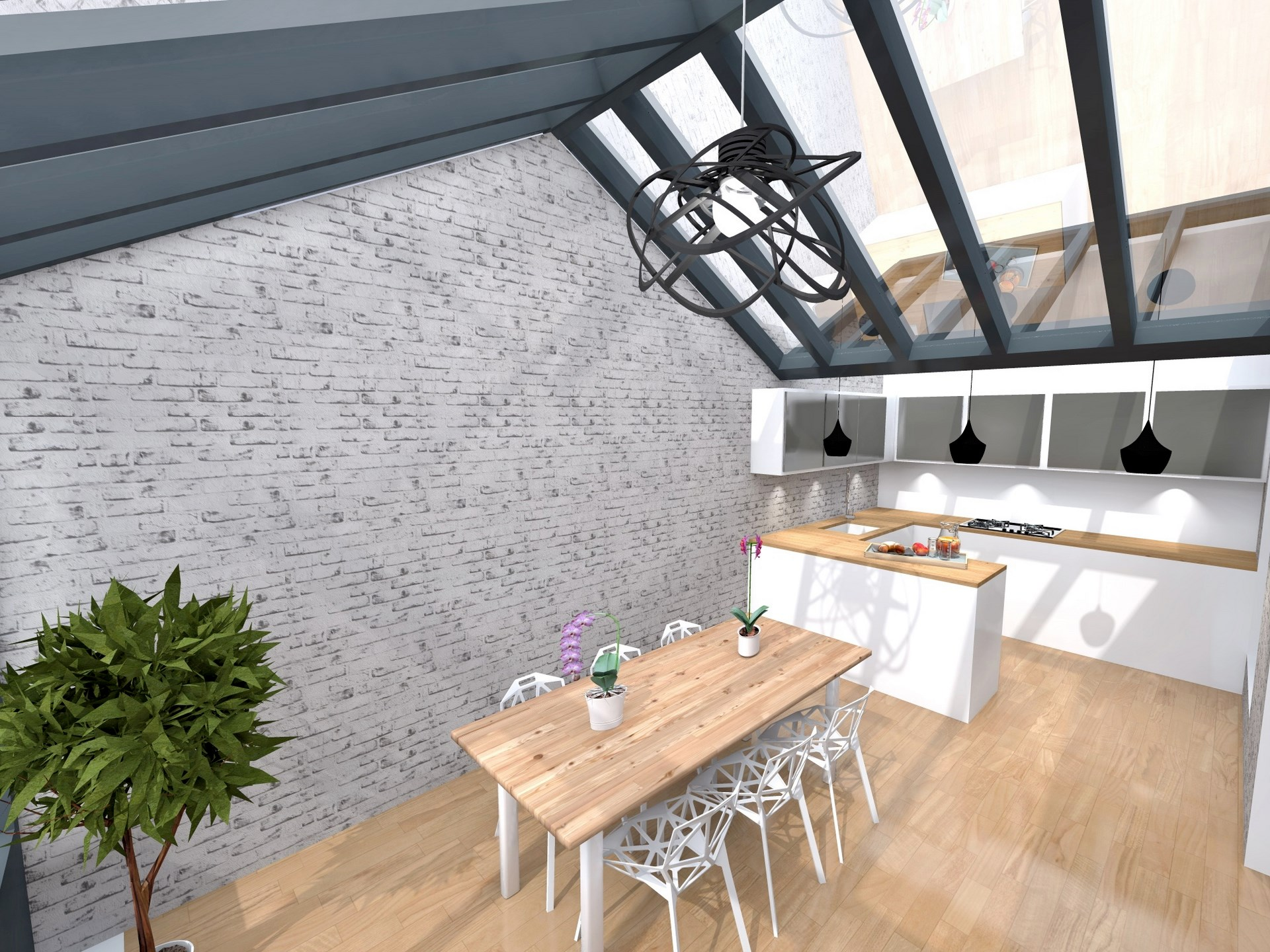 extension veranda verriere cuisine ouverte agence avous