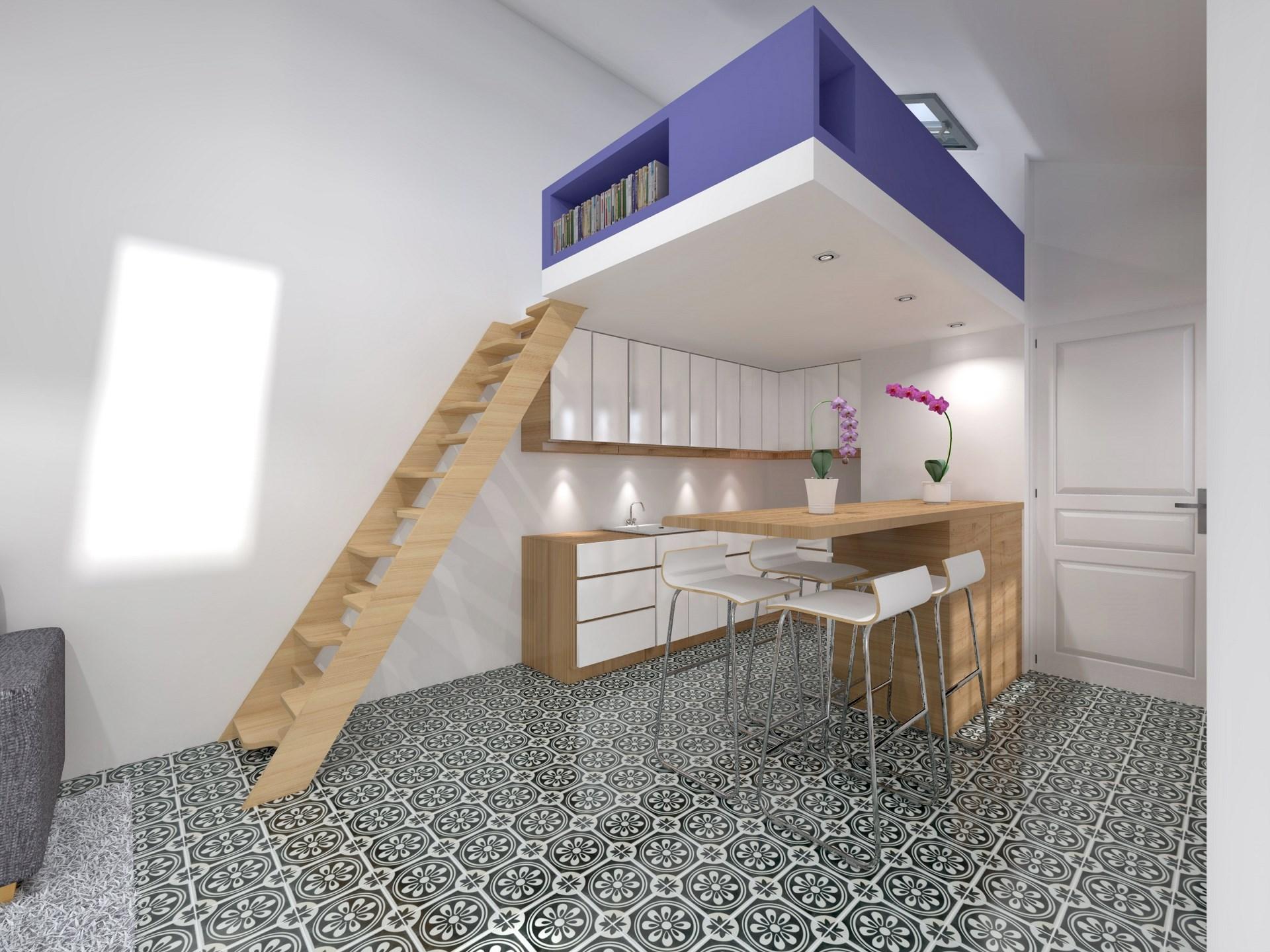 Transformer atelier de bricolage en studio indépendant avec chambre ...