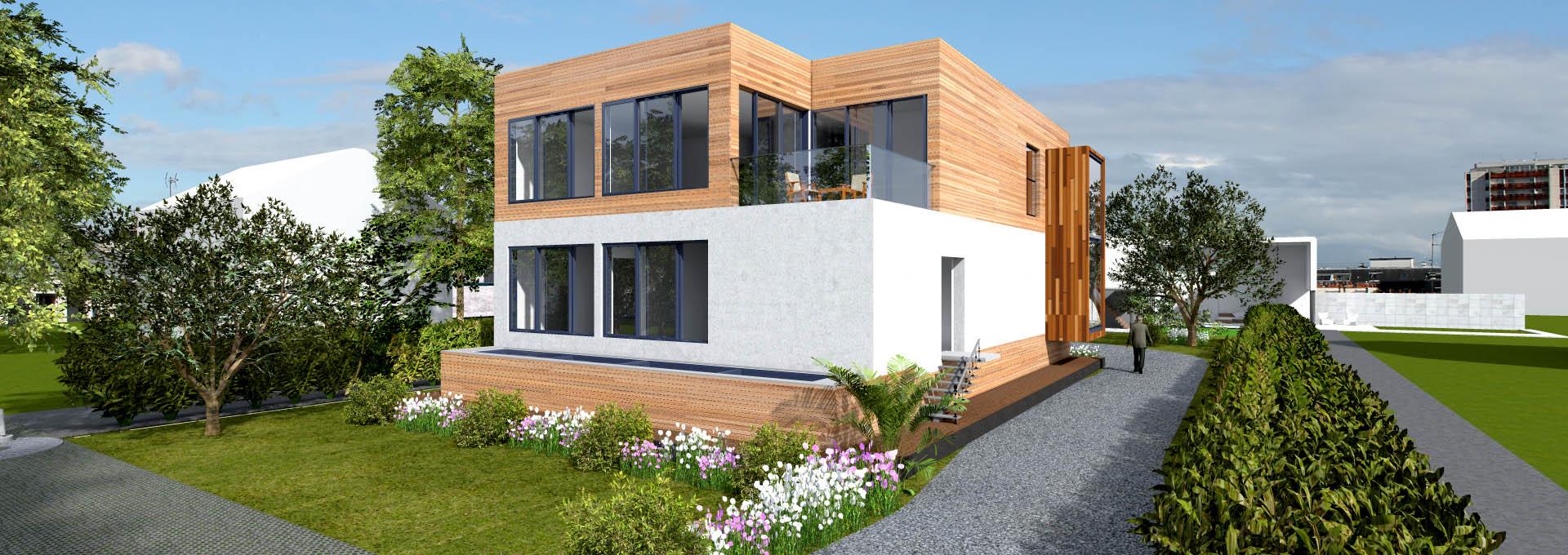 habitation contemporaine sous sol semi enterr architecte. Black Bedroom Furniture Sets. Home Design Ideas