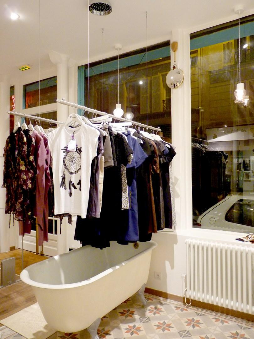 architecte concept boutique vintage vetement baignoire appartement agence avous