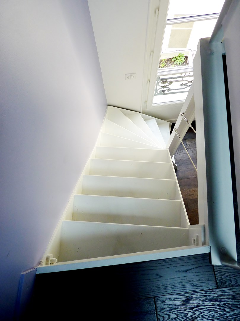 amenagement comble escalier metallique agence avous
