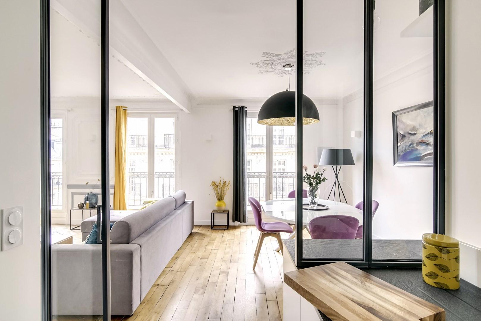 Decoration Appartement Haussmannien rénovation appartement paris 8 chic chic chic